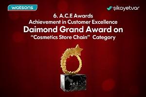 Watsons, Diamond 1.lik ödülünün sahibi oldu!