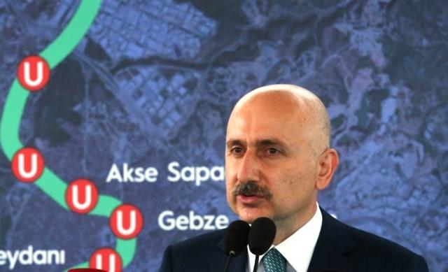 Bakan Karaismailoğlu, Gebze OSB-Darıca Sahil Metro Hattı TBM kazı başlangıç törenine katıldı.