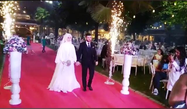 Sedanur ile Hakan, rüya gibi düğünle evlendi