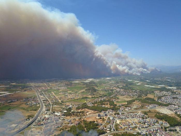 Manavgat Orman Yangınları İle  boğuşuyor