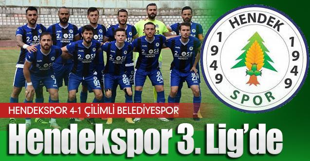 Çilimli Belediyespor'u  4-1 Yenen Hendekspor  3.Lig'e yükseldi
