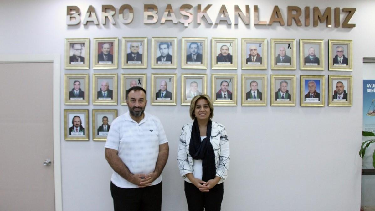 Levent Candan'dan Başkan İlknur Ebiz Yıldız'a ziyaret